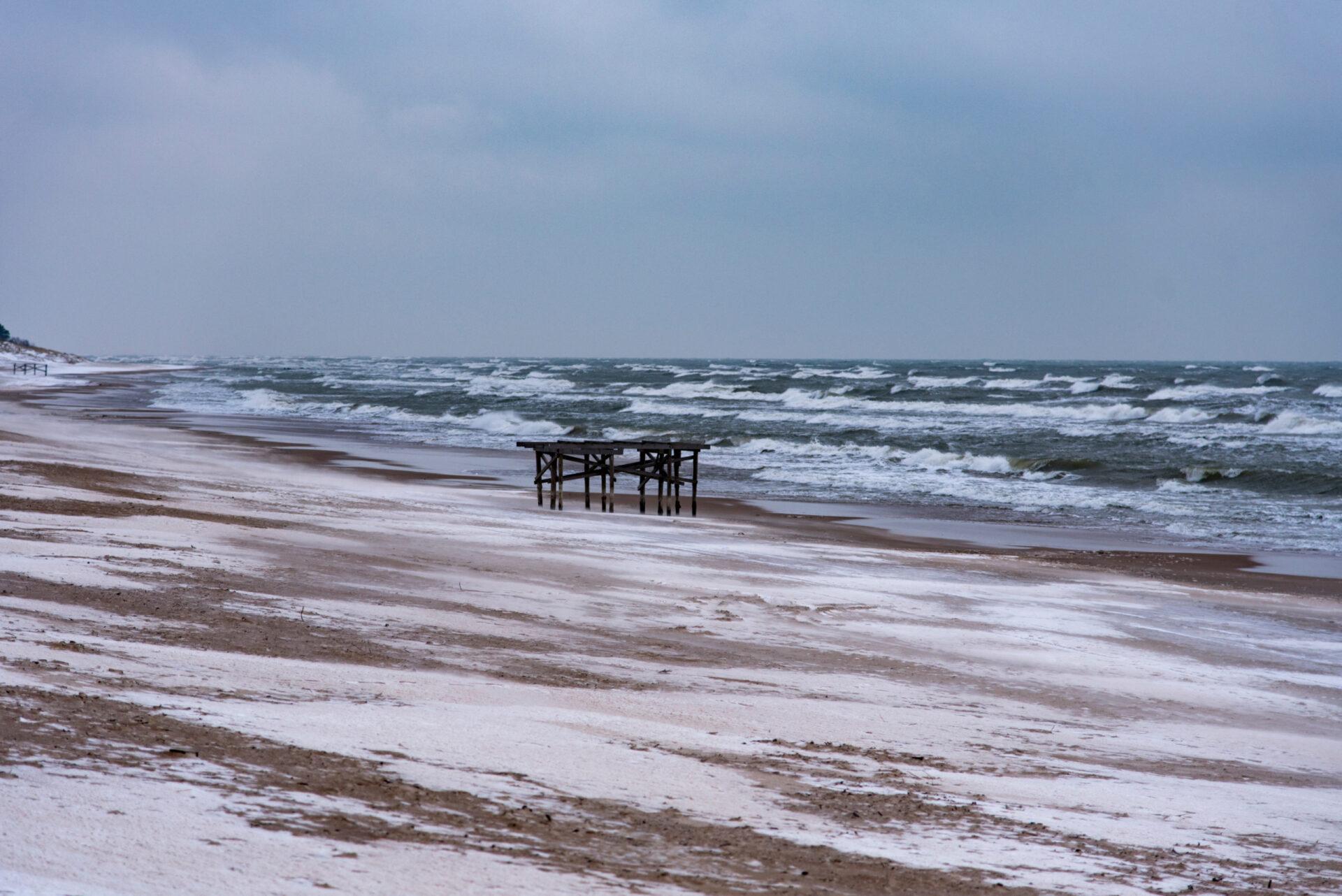 Ледяная февральская Балтика.