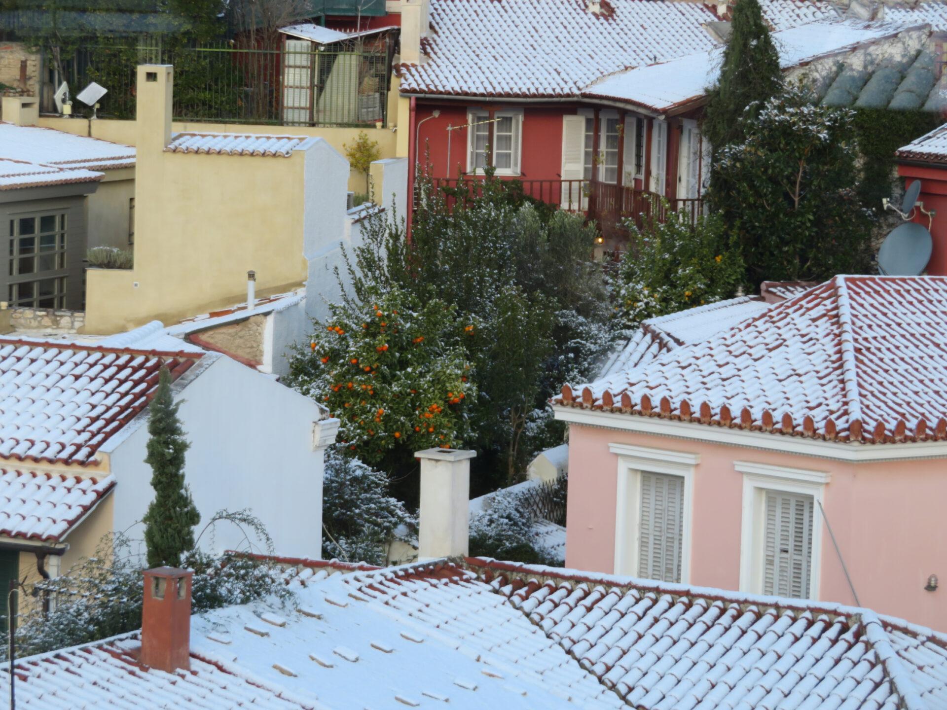 Зима вГреции
